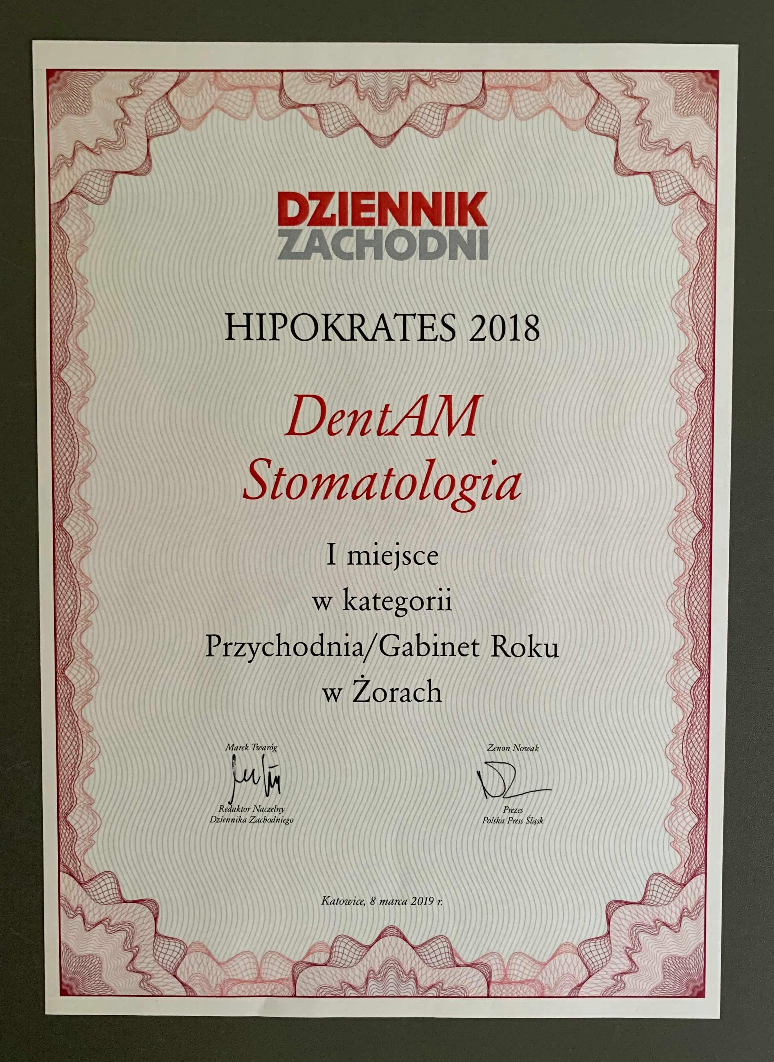 DentAM Stomatologia Hipokrates 2018